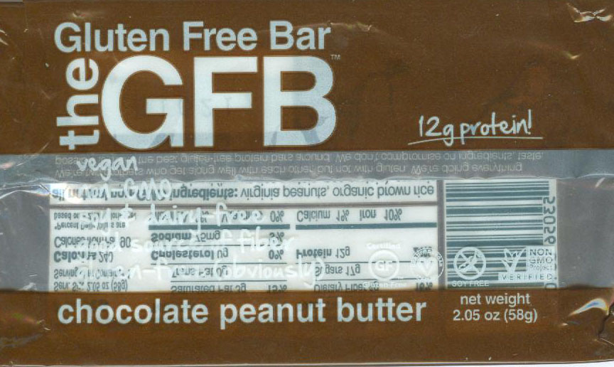 Gluten Free Bar Chocolate Peanut Butter
