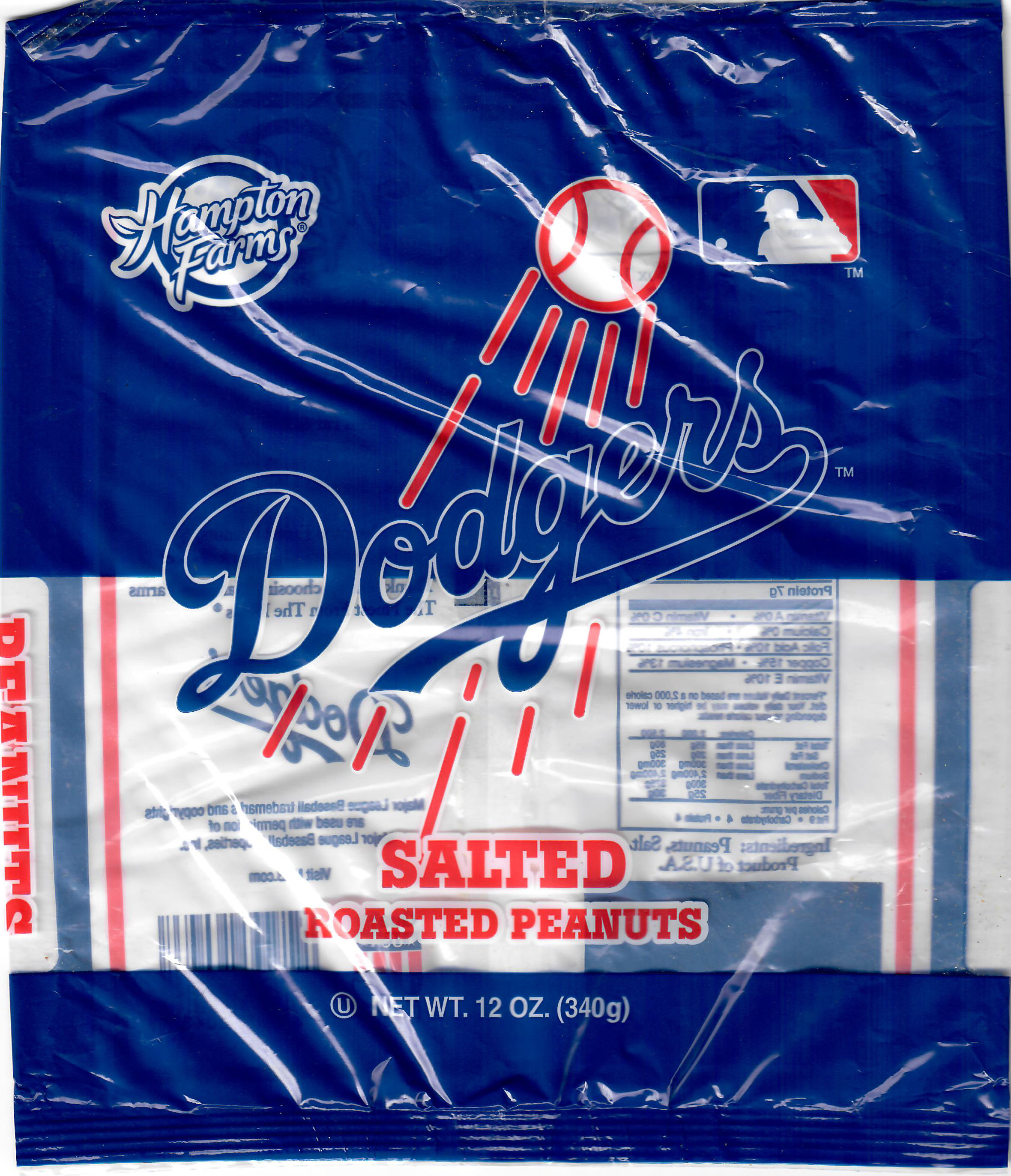 Hampton Farms Salted Peanuts-LA Dodgers