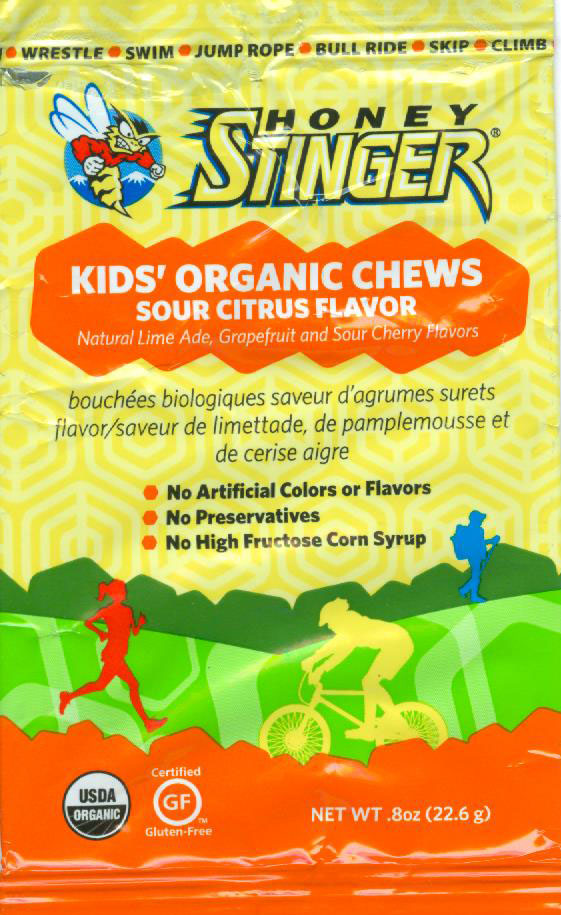 Honey Stinger Kids' Organic Chews - Sour Citrus Flavor