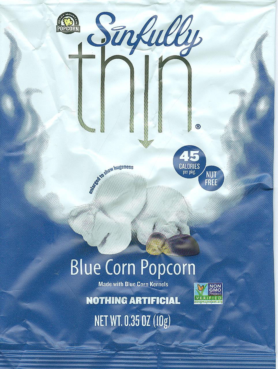 Sinfully Thin Blue Corn Popcorn