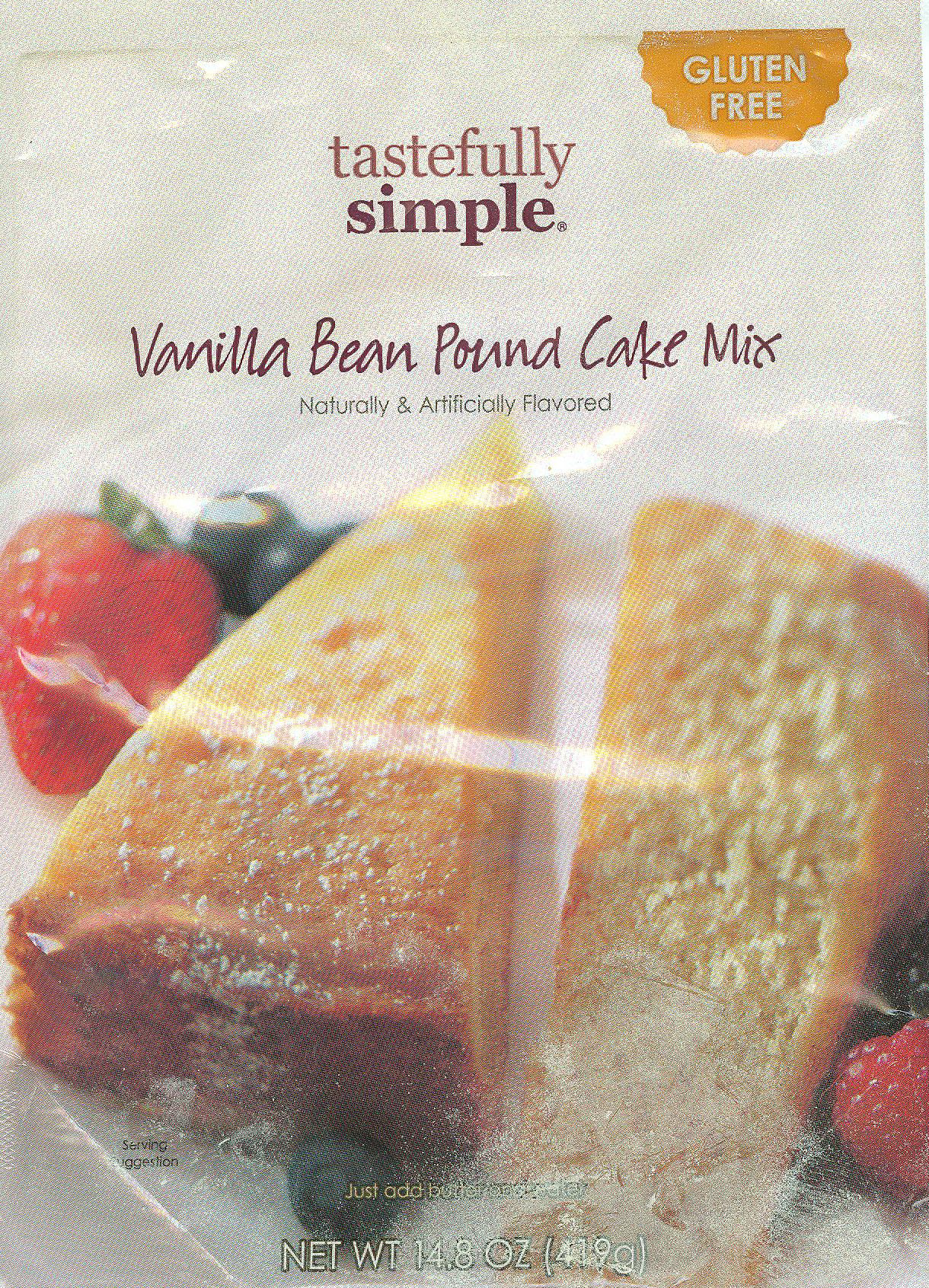 Tastefully Simple Vanilla Pound Cake