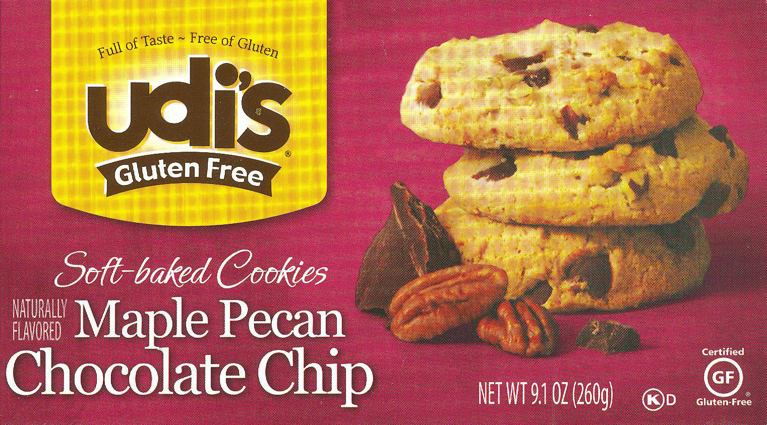 Udi's Maple Pecan Chocolate Chip Cookies