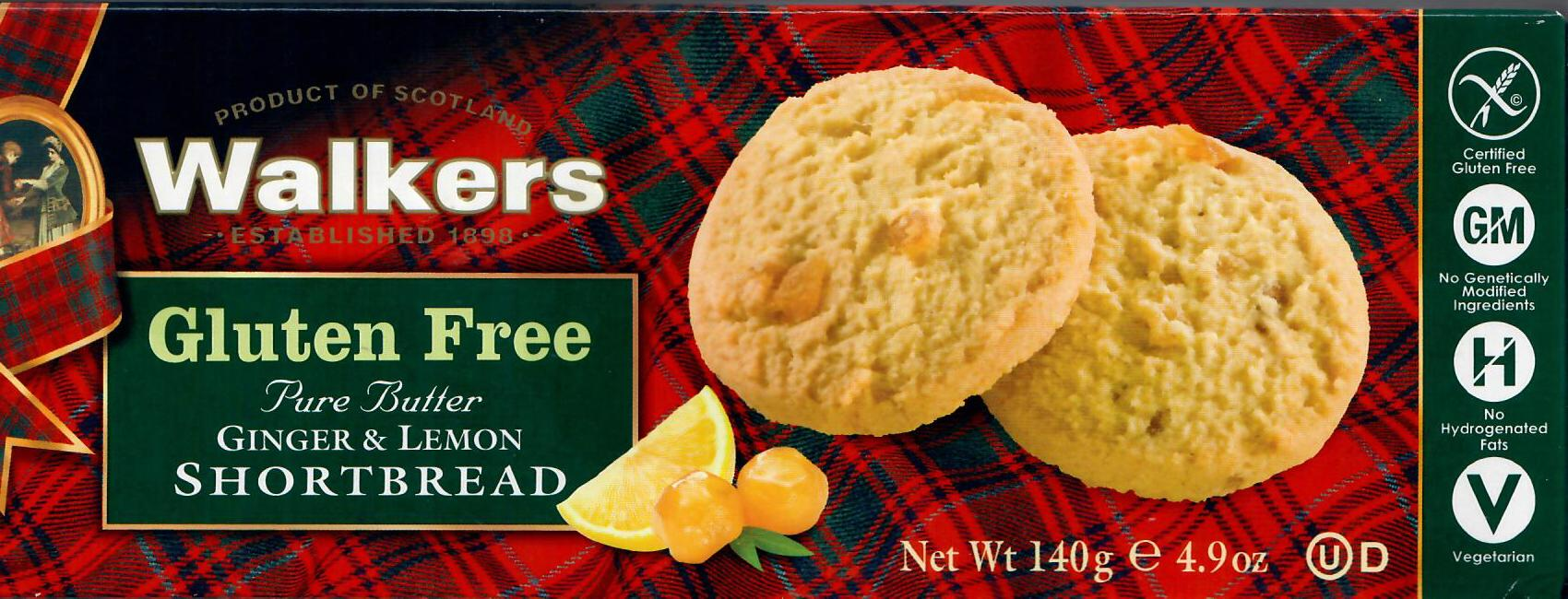 Walkers Ginger and Lemon Shortbread Cookies