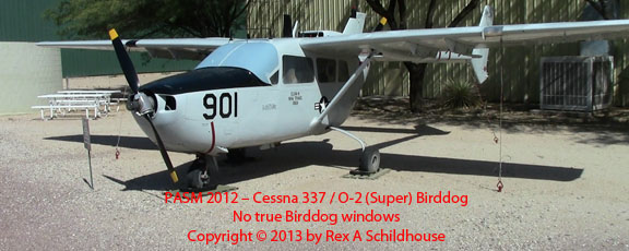 Cessna 337 Skymaster – No O-2 windows