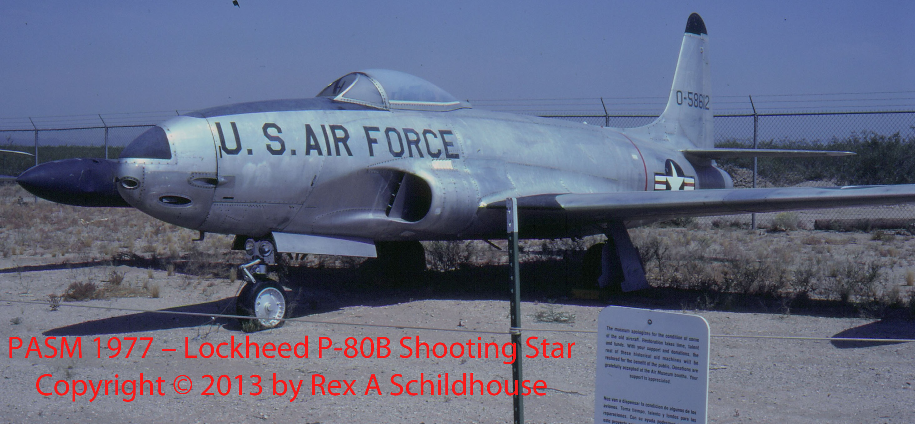 Lockheed P-80B Shooting Star