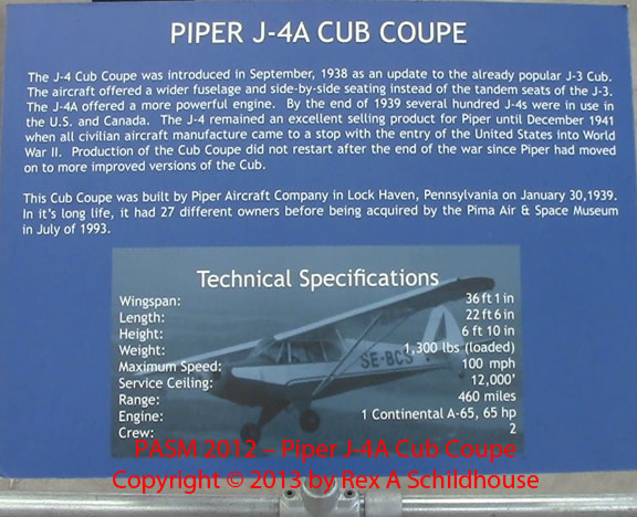 Piper J-4A Cub Coupe