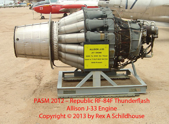 Republic F-84C Thunderjet J-33 Engine