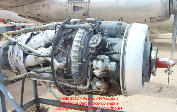Vickers 744 Viscount Rolls-Royce Dart Engine